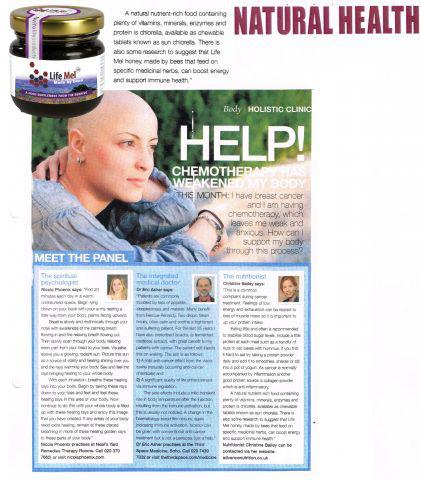 "LifeMel honey in @natural_mag ""made by bees that feed on specific medicinal herbs, can boost energy and support immune health."""