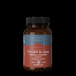 Terranova Vitamin B6 (P5-P) 50Mg Complex Veg. Caps. 50's