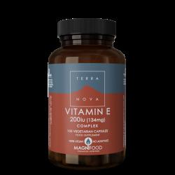 Terranova Vitamin E 200Iu Complex Veg. Caps. 100's