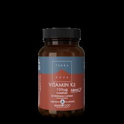 Terranova Vitamin K2 100Ug Complex Veg. Caps. 50's