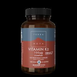 Terranova Vitamin K2 100Ug Complex Veg. Caps. 100's