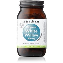 Viridian Organic White Willow 400mg - 90 Veg Caps