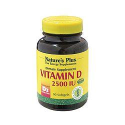 Nature's Plus VitaminD3 2500 IU Softgels 90's