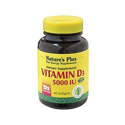 Nature's Plus Vitamin D3 5000 IU Softgels 60's