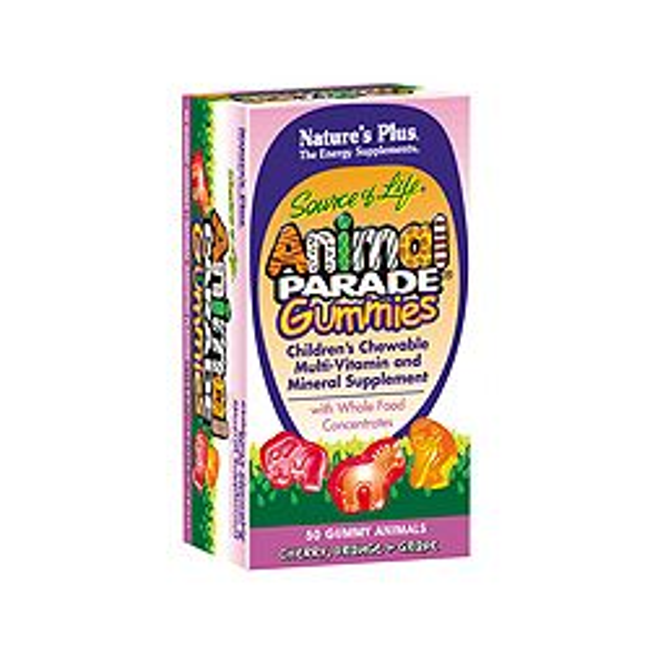 Nature's Plus Animal Parade Gummies Assorted Flavors 50's