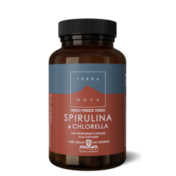 Terranova Spirulina & Chlorella Capsules Veg. Caps. 100's