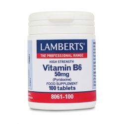LAMBERTS VITAMIN B6 50 mg 100 TABLETS