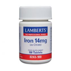 LAMBERTS IRON 14 Mg (AS CITRATE) 100's