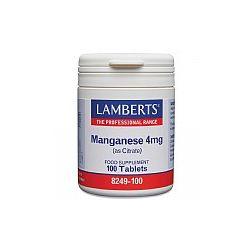 LAMBERTS MANGANESE 4 mg 100's