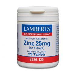 LAMBERTS ZINC 25 Mg (AS CITRATE) 120's