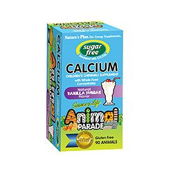 Nature's Plus Animal Parade Sugar Free Calcium – Vanilla Flavor 90's