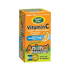 Nature's Plus Animal Parade Sugar Free Vitamin C – Orange Flavor 90's
