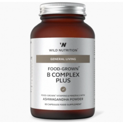 Wild Nutrition General Living Food-Grown B Complex Plus 60 caps