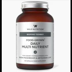 Wild Nutrition Bespoke Teenboy Food-Grown Daily Multi Nutrient 60 caps
