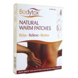 Bodytox Natural Warm Patches 6 Pack