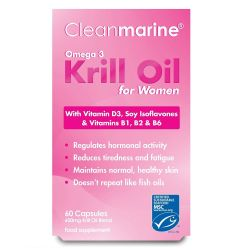 Cleanmarine Krill Oil for Women 60 cap