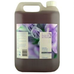 Faith in Nature Lavender & Geranium Shower Gel & Foam Bath 5 ltr