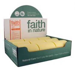 Faith in Nature Orange Soap - box of 18 bars