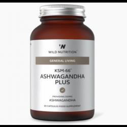 Wild Nutrition General Living Food-Grown KSM-66 Ashwagandha Plus 60 caps