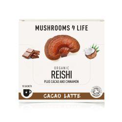 Mushrooms4Life Organic Reishi - Cacao Latte Sachets 10 x 7.0g