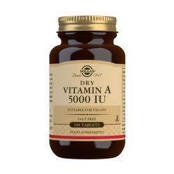 Solgar Dry Vitamin A 5000 IU Tablets - Pack of 100