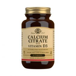 Solgar Calcium Citrate with Vitamin D3 Tablets - Pack of 60