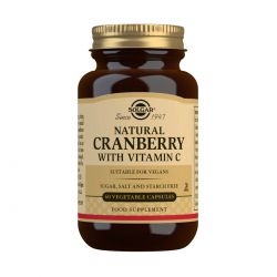 Solgar Natural Cranberry with Vitamin C Vegetable Capsules - Pack of 60