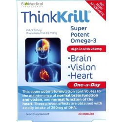 ThinkKrill Oil For Brain,Vision,Heart 30 Capsules
