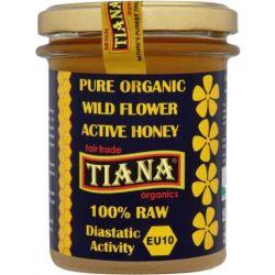 Tiana Organic Raw Active Flower Honey 250g